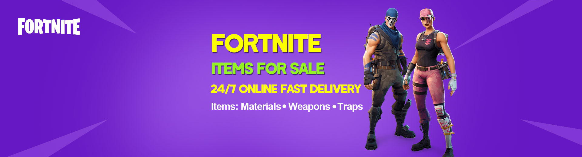 Buy Fortnite Items(Materials,Weapons,Traps)